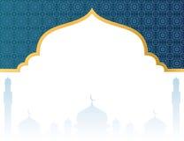 Fondo islamico in bianco con la moschea illustrazione di stock