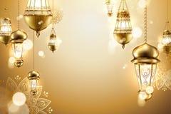 Fondo islamico dorato illustrazione di stock