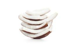 Fondo isolato bianco dell'ingrediente di alimento del latte di cocco fotografia stock