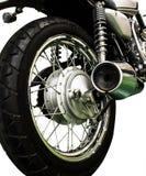 Fondo isolato motociclo d'annata Immagini Stock