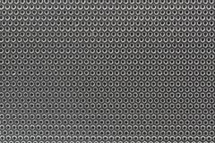 Fondo isolato suono d'argento dell'altoparlante per basse frequenze del primo piano Fotografia Stock Libera da Diritti