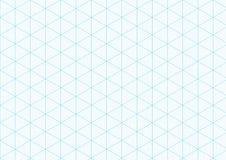 Fondo isométrico del papel cuadriculado que traza la línea de regla triangular del vector dibujo de ingeniería de la rejilla ilustración del vector