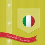 Fondo Italia de la camisa Imagen de archivo libre de regalías
