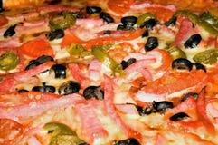 Fondo italiano de la pizza Imagen de archivo libre de regalías