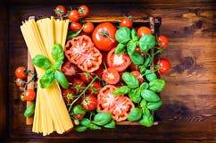 Fondo italiano del alimento Fotografía de archivo libre de regalías