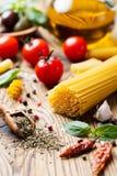 Fondo italiano del alimento Fotos de archivo