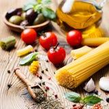 Fondo italiano del alimento Foto de archivo libre de regalías