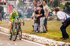Fondo, Italy - June 28, 2014: David Formolo Cannondale Stock Photography