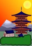 Fondo japonés Foto de archivo libre de regalías
