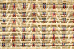 Fondo japonés de la textura de la decoración de la estera de tatami Fotografía de archivo