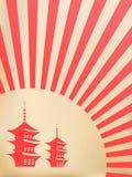 Fondo japonés del vector Fotografía de archivo