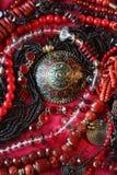 Fondo-jewerly rojo Imagenes de archivo