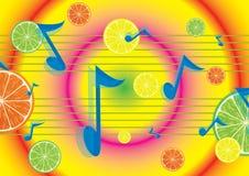Fondo jugoso de la melodía Imagen de archivo