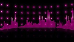 Fondo 4K de la frecuencia de la barra del equalizador libre illustration