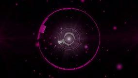 Fondo 4K de la frecuencia de la barra del equalizador de los círculos libre illustration