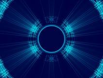 Fondo, líneas y luz abstractos azules Foto de archivo libre de regalías