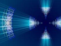 Fondo, líneas y luz abstractos azules Imágenes de archivo libres de regalías
