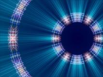Fondo, líneas y luz abstractos azules Imagenes de archivo