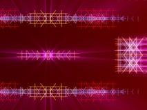Fondo, líneas y luz abstractos rojos Fotografía de archivo