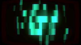 Fondo líquido de las partículas de los pixeles stock de ilustración