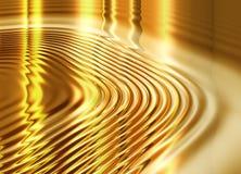 Fondo líquido del oro Imagen de archivo libre de regalías