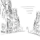 Fondo la ciudad del arte del bosquejo Foto de archivo libre de regalías