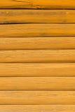 Fondo la nueva pared de la cabaña de madera Foto de archivo