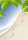 Fondo a la playa Foto de archivo