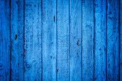 Fondo lamentable de madera azul Tablones ciánicos de la estructura verticalmente Foto de archivo libre de regalías