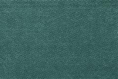 Fondo lanuginoso verde scuro del panno molle e lanoso Struttura del tessuto leggero del pannolino, primo piano Immagini Stock