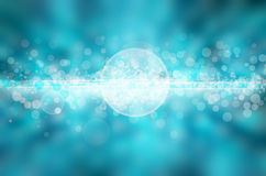 Fondo leggero astratto blu Fotografia Stock