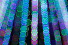 Fondo leggero astratto di Bokeh Immagine della sfuocatura della luce di defocus alla notte Immagine Stock