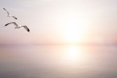 Fondo leggero astratto di estate del mare di arte bello Fotografie Stock