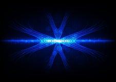 Fondo leggero blu astratto della luce dell'estratto del bokeh Illu di vettore Immagini Stock Libere da Diritti