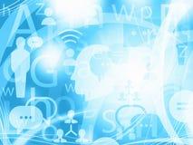 Fondo leggero blu astratto di comunicazione Immagini Stock