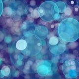 Fondo leggero blu di Bokeh Fotografia Stock
