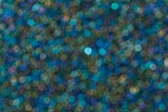 Fondo leggero blu di scintillio variopinto del bokeh delle luci fotografia stock libera da diritti