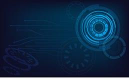 Fondo leggero blu di vettore del cerchio Fotografie Stock Libere da Diritti