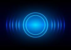 Fondo leggero blu digitale astratto dell'onda sonora Immagini Stock Libere da Diritti