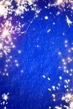 Fondo leggero delle stelle filante magiche di Natale di arte Fotografia Stock Libera da Diritti