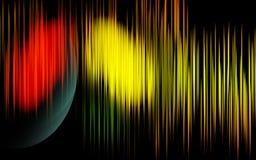 Fondo leggero di concetto dell'arcobaleno delle bande illustrazione vettoriale