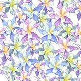 Fondo leggero floreale delicato Ornamento senza cuciture della molla Disegnato a mano Struttura dell'annata royalty illustrazione gratis