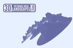 Fondo leggero porpora per le presentazioni con il mountai poligonale illustrazione vettoriale