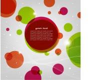 Fondo ligero abstracto con los círculos Fotografía de archivo