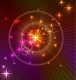 Fondo ligero abstracto con los círculos Imagenes de archivo