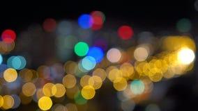 Fondo ligero abstracto de Bokeh almacen de metraje de vídeo