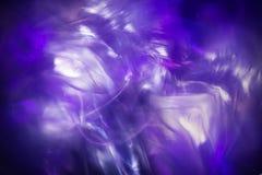 Fondo ligero abstracto del helada, fractal mágico azul Foto de archivo libre de regalías