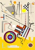 Fondo ligero abstracto, formas geométricas y curvadas de lujo, estilo -18-64 del arte del expresionismo Foto de archivo libre de regalías
