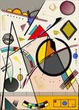 Fondo ligero abstracto, inspirado por el pintor kandinsky Imagen de archivo libre de regalías