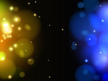 Fondo ligero amarillo y azul abstracto del vector Fotografía de archivo libre de regalías